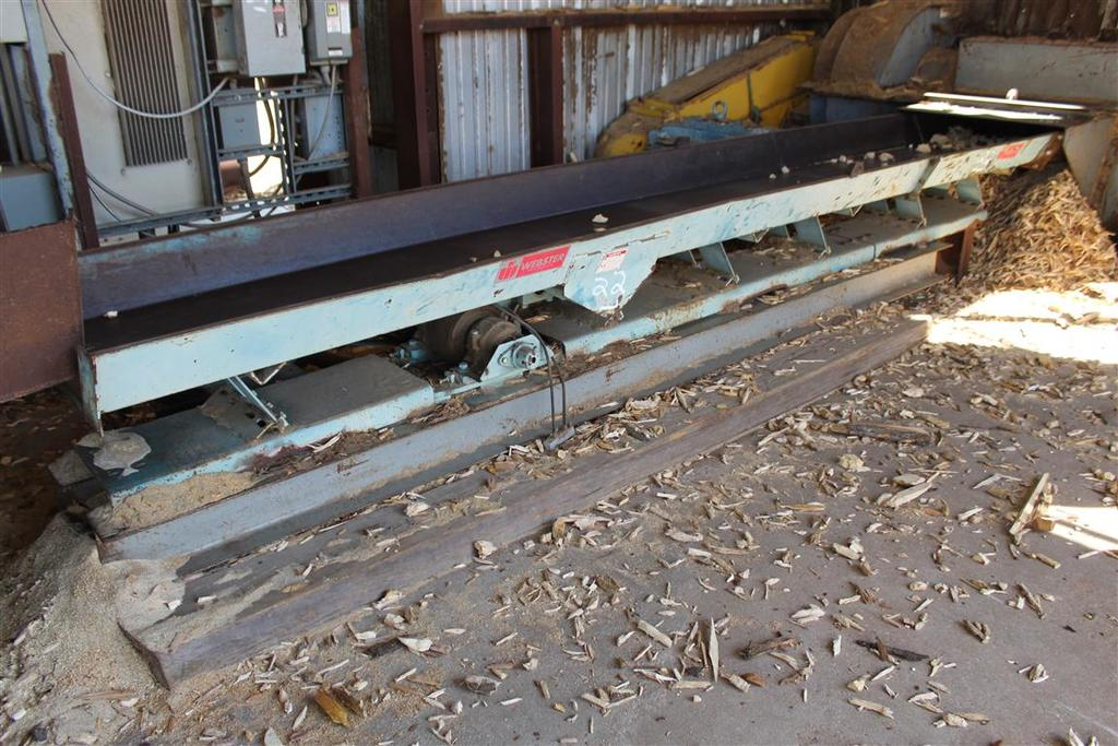 WEBSTER INDUSTRIES VIBRATING DEBRIS TROUGH, Approx 15' Long