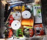 UNUSED 4x4 PALLET OF GARDENING SUPPLIES, ROPE AND HOUSEHOLD ITEMS