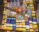 UNUSED 4x4 PALLET OF CLEANING SUPPLIES AND PAINTING CHEMICALS