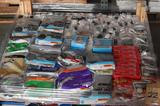 UNUSED 4x4 PALLET OF ELECTRICAL SUPPLIES AND HOUSEHOLD MAINTENANCE SUPPLIES