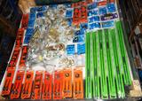 UNUSED 4x4 PALLET OF GATE HARDWARE AND MISC ITEMS