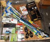 UNUSED 4x4 PALLET OF CLEANING SUPPLIES, LIGHTING & CAMPING SUPPLIES