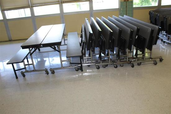 (10) Folding Cafeteria Tables