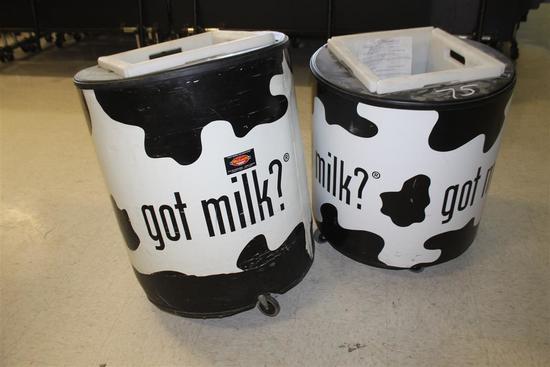 "(2) ""Got Milk"" Roll Around Containers"