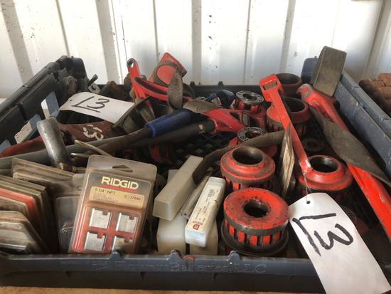 Lot of Misc Ridgid Pipe Cutters - Manual Threaders - Teeth