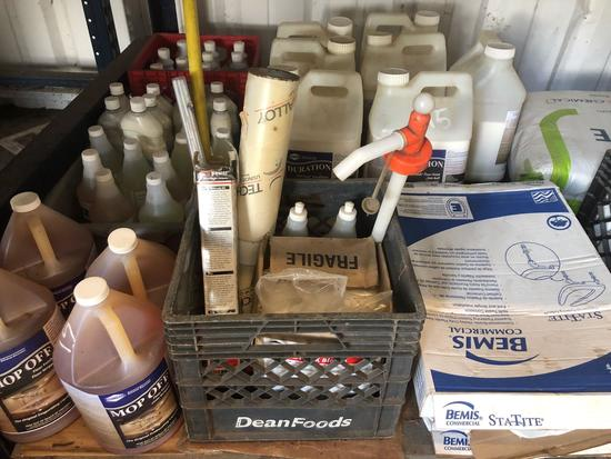 Lot of Misc Cleaning Supplies w/ Toilet Seat