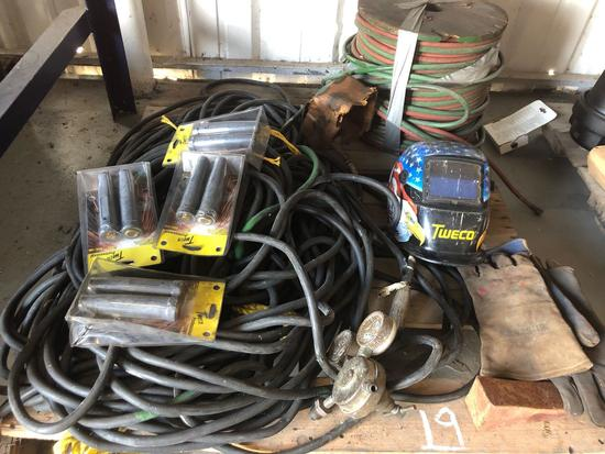 Pallet of Misc Torch Hose - Welding Lead - Unused Tweco MPC Connectors