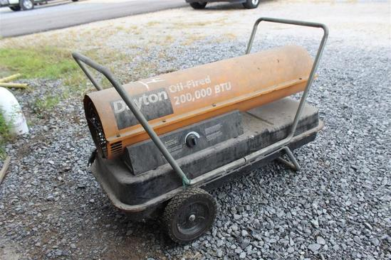 Dayton Roll Around Heater - 200,000 BTU