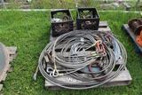 Lot of Misc Rigging - 4 Part Wire Lifting Cables - Shackles