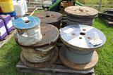 Lot of Misc Spool of Wire Rope & Rope