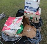 Pallet of Misc Wire - Communication Wire - Copper Wire