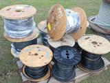 Large Pallet of Wire & Cable w/ 16-3C 175' - 16-2C 300' - 4 Spools & Coaxel