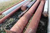 Lot of Misc Steel Pipe w/ 1 Propeller Shaft
