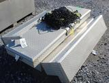 (3) Diamond Plate Truck Boxes w/ Cargo net