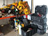 Large lot of Fire Equipment - Jackets - Boots - Air Tanks - Air Mask