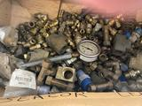 Lot of Misc Bolts & Brass Fittings