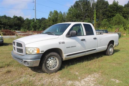 2005 DODGE RAM 2500 QUAD CAB, Showing 145,440 Miles