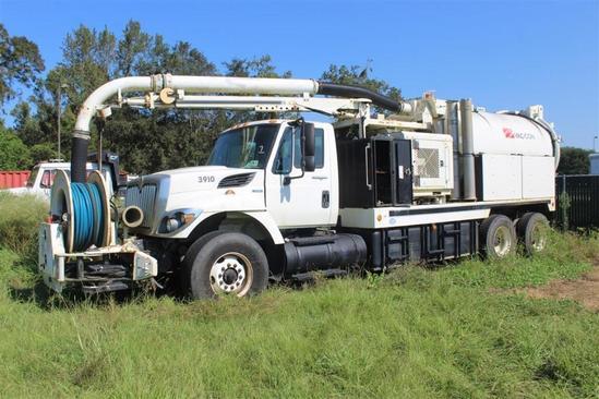 2008 INTERNATIONAL 7400 SBA 6X4 w/Vaccon Model-V312LHA