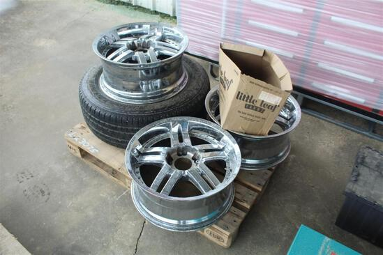 PALLET OF (4) 20 INCH RIMS
