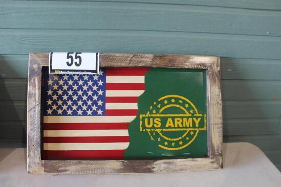 US ARMY/AMERICAN FLAG