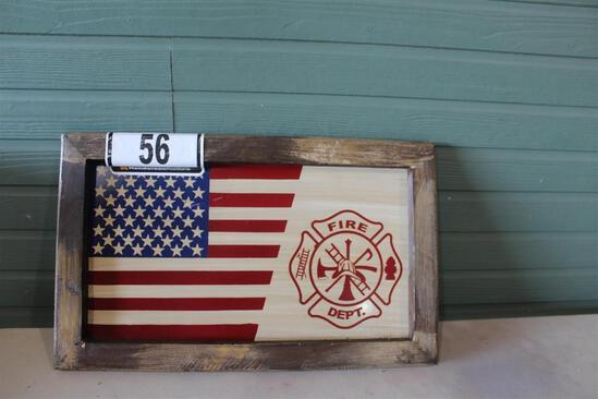 FIRE DEPT/AMERICAN FLAG