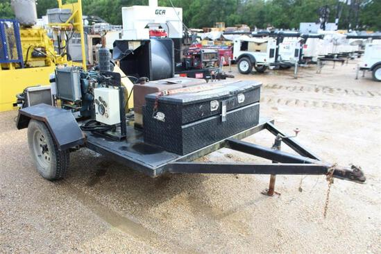 Blower Mounted on Single Axles Trailer
