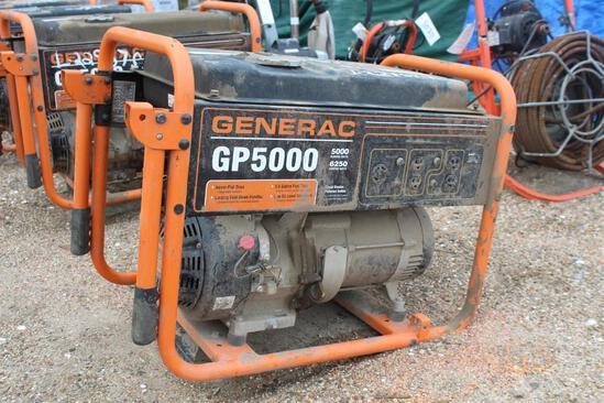 GENERAC GP5000 Gas Generator - Wheel MTD
