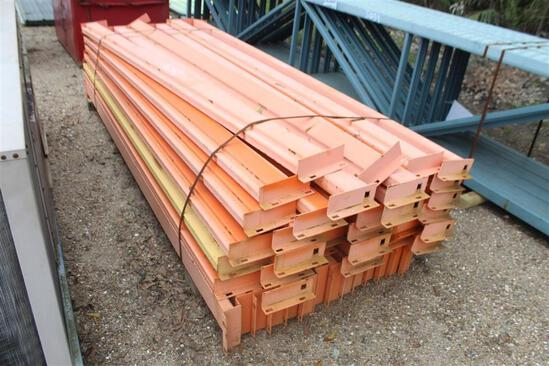 PALLET RACKING (10) 22 x 3 feet pieces - Maximum Weight All Levels 5330 Lbs - 10 ft arms