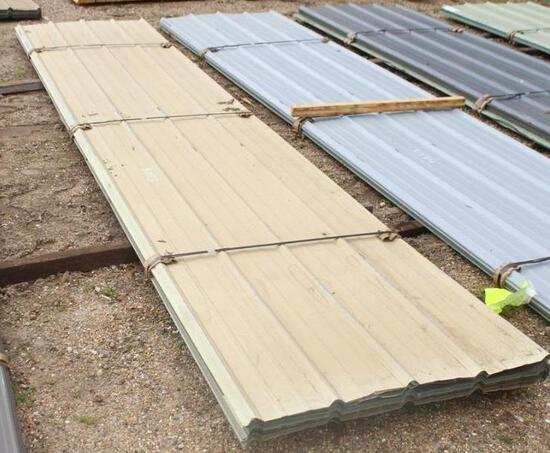 BUNDLE OF ROOFING METAL Approximately 800 ft