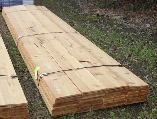 LOT OF CEDAR LUMBER 1/2in X D3/4in X W11ft 3/8in - app 50 Cedar Boards - 16ft long