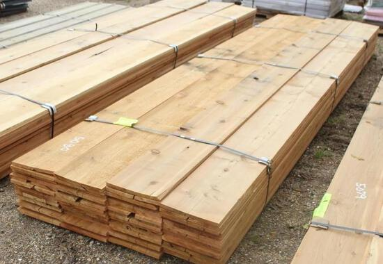 LOT OF CEDAR LUMBER 3/4in X W11ft 1/4in X D3/4in Cedar Lumber - app. 64 Boards - 14ft long