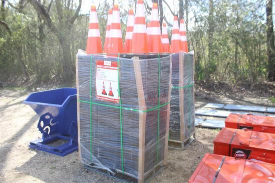 UNUSED SAFETY CONES Approx 250 pcs of PVC Safety Cones