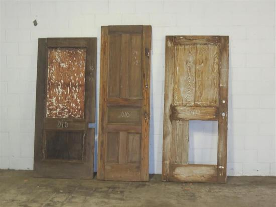 3 Reclaimed Vintage Mahogany Solid Core Door