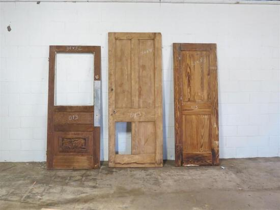 Total of 7 Reclaimed Antique New Orleans Doors
