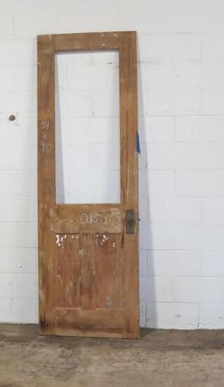 1 Reclaimed Antique Cypress 1/2 Lite Door