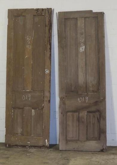 2 Reclaimed Antique Walnut Doors