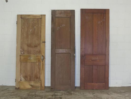 3 Reclaimed Antique Cypress Doors