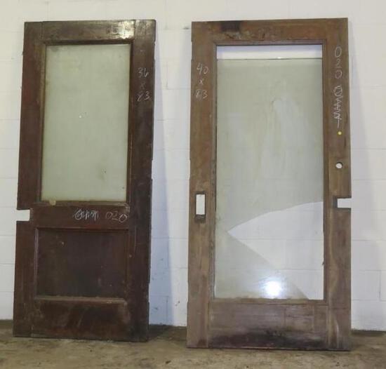2 Reclaimed Vintage Mahogany Solid Core Doors