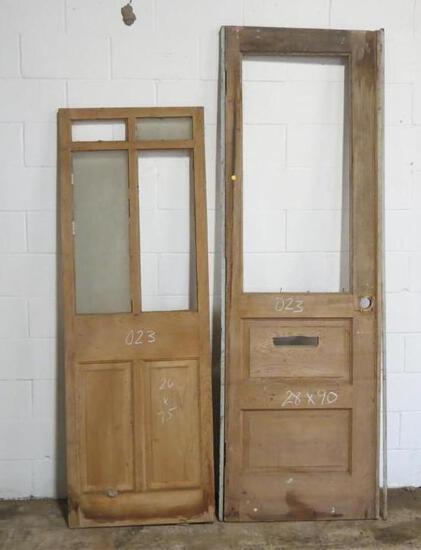2 Reclaimed Antique Cypress Doors