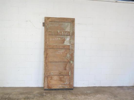 1 Reclaimed Antique Cypress 5 Panel door