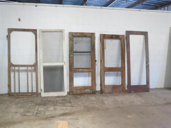 5 Reclaimed Antique Cypress Screen Doors