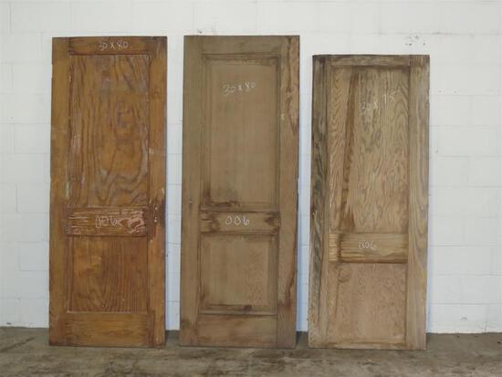 3 Reclaimed Antique Cypress 2 panel interior doors