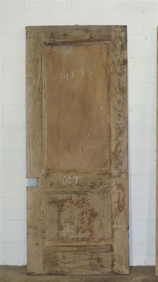 2 Reclaimed Vintage Mahogany Solid Core 1 panel & glass plus 2 panel Doors