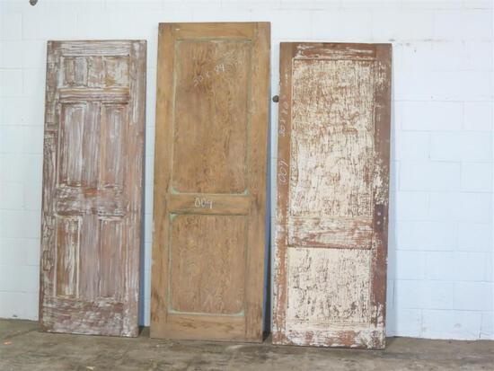 3 Reclaimed Antique Cypress and Pine Interior Doors