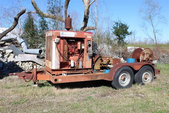 Trailer Mounted water blaster, Diesel Engine