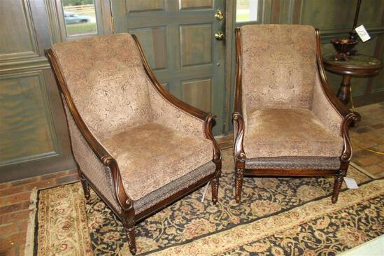 Lot of (2) Parlor Chairs