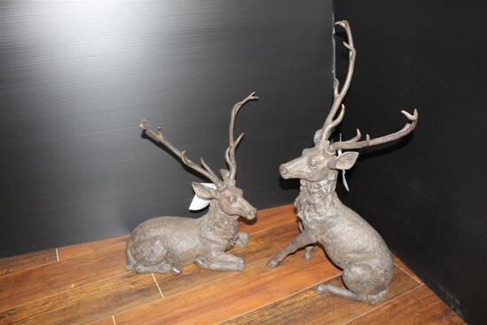 (2) Decorative Table Top Deer