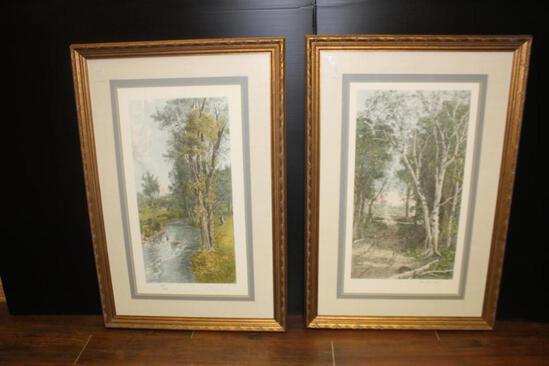 (2) Tree Prints (28x41 Inch)