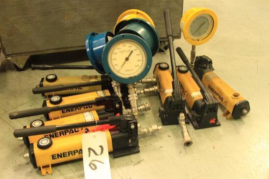 Enerpac pressure test pumps 10,000 PSI