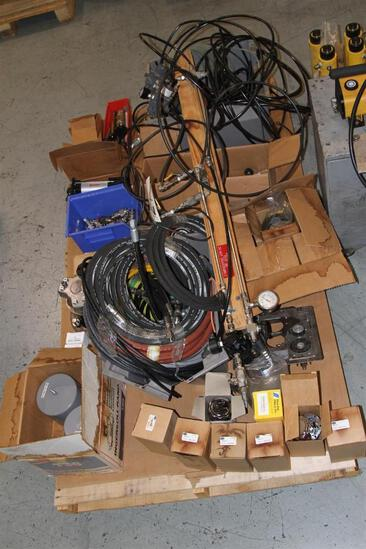 Lot of quick connects, filter elements, high pressure valves, etc..